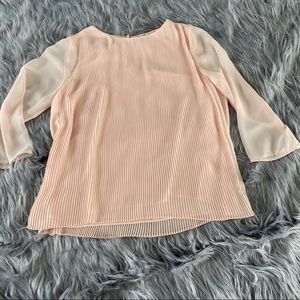 Vince Camuto Blush Pleated Blouse